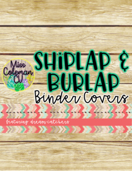 Editable Tribal Shiplap and Burlap Binder Covers