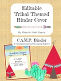 Editable Tribal Themed Binder Cover