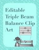 Editable Triple Beam Balance Clip Art