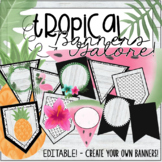 Editable Tropical Banners - Flamingo, Pineapple, MORE! 90