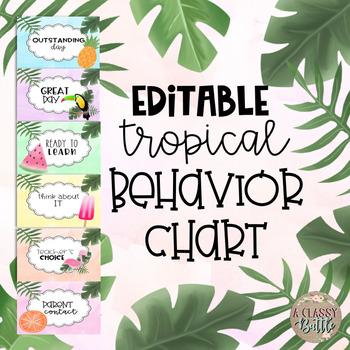 Editable Tropical Behavior Chart