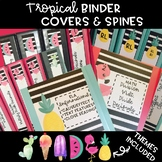 Editable Tropical Binder Covers and Spines