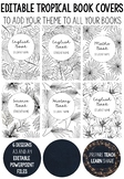 Editable Tropical Book Covers