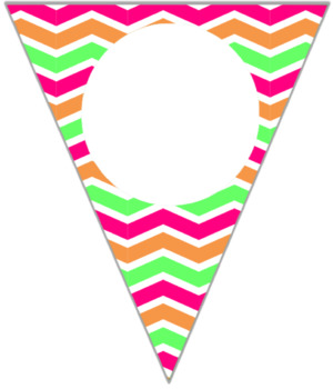 Editable Bright Chevron Buntings