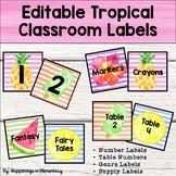 Tropical Classroom Labels - Editable