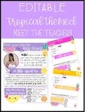 Editable Tropical Meet the Teacher