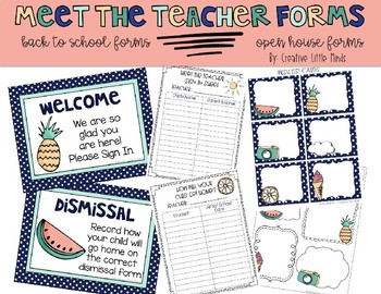 Editable Tropical Meet the Teacher Forms