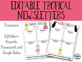 Editable Tropical Newsletters