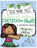 Editable classroom labels - Tropical Palms