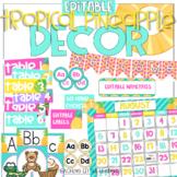 Editable Tropical Pineapple Decor