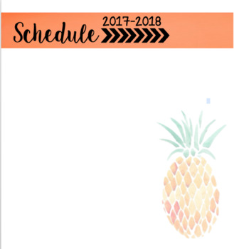 Tropical Schedule (EDITABLE)