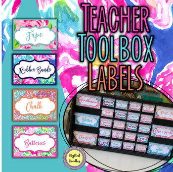 Editable Tropical Teacher's Toolbox Labels