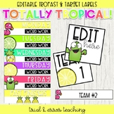 Editable Tropical Themed: Trofast and Target Adhesive Labels