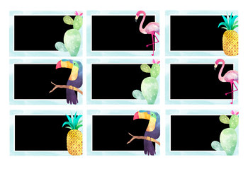 Editable Tropical Watercolor Themed Name Tags
