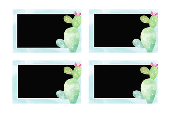 Editable Tropical Watercolor Themed Name Tags