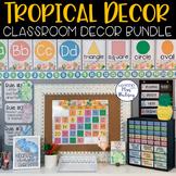 Editable Tropical and Shiplap Classroom Decor Bundle