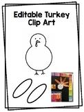 Editable Turkey Clip Art