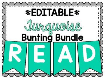 Editable Turquoise Banner Bundle