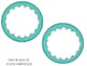 Editable Turquoise Circles