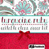 Editable Turquoise Ruby Class Decor Kit