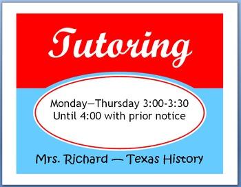 Editable Tutoring Sign