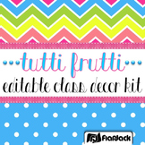 Editable Tutti Frutti Color Scheme Class Decor Kit