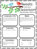 Editable Tweets from the Classroom Newsletter