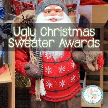 Editable Ugly Christmas Sweater Awards