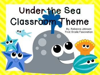 Editable Under the Sea Calendar and Classroom Super Pack