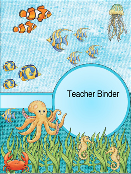Editable Under the Sea Ocean Teacher Binders