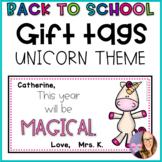 Editable Unicorn Cards for Back to School