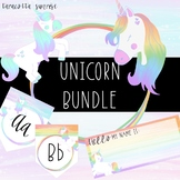 Editable Unicorn Decor and Clipart Classroom Bundle