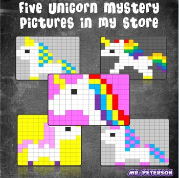 Editable Unicorn Mystery Picture #5  - Sight Words Spelling Vocabulary ANYTHING
