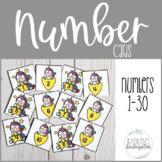 Editable Unicorn Number Cards