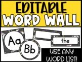 Editable Unicorn Word Wall Headers and Word Cards - Unicorn Classroom Theme