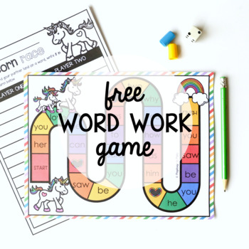 Free Editable Word Work Game