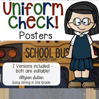 Editable Uniform Check Poster
