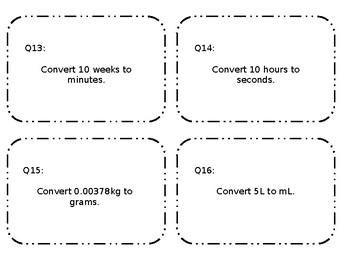 Editable Unit Conversion Task Card Practice