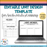 Editable Unit Design Template for Backwards Planning - PDF + Digital