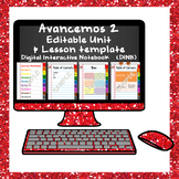 Editable Unit Digital Interactive Notebook TEMPLATE for Avancemos 2