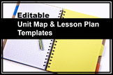 Editable Unit Map and Lesson Plan Templates