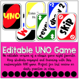 Editable Uno Game