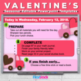 Editable VALENTINE'S DAY Themed Morning Work PowerPoint Templates