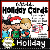 Editable Holiday Cards with Treats