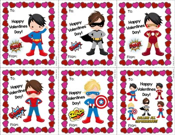 Editable Valentine Cards For Boys and Girls