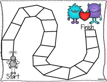 Editable Valentine's Day Board Game