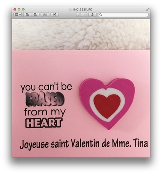 Editable Valentine for Students