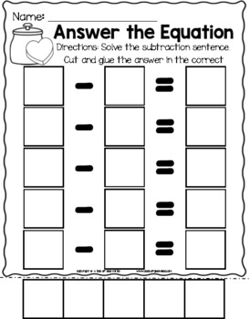 Editable Valentine's Day Addition and Subtraction Activity