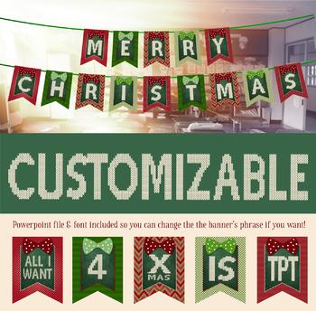 Editable Christmas Banner! - Classic Vintage