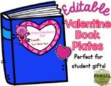 Editable Valentine's Day Book Plates